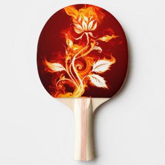 クールなオレンジおよび黄色の火の花の火は上がりました 卓球ラケット
