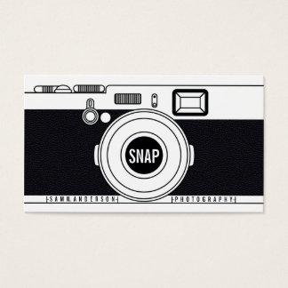 クールなカメラマンのカメラのモダンで黒いイラストレーション 名刺