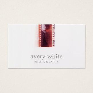 クールなカメラマンのヴィンテージの写真のフィルムのシンプルな白 名刺