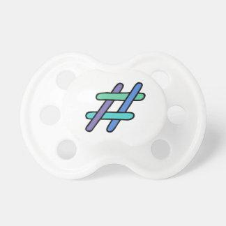 クールなカラフル# Hashtagの青緑の会合媒体 おしゃぶり