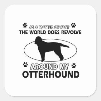 クールなカワウソ猟犬のデザイン スクエアシール