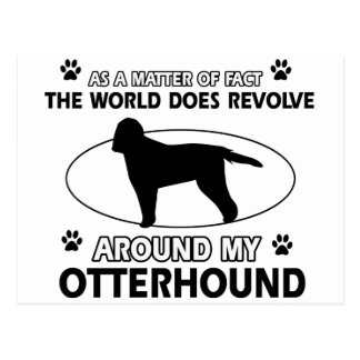クールなカワウソ猟犬のデザイン ポストカード