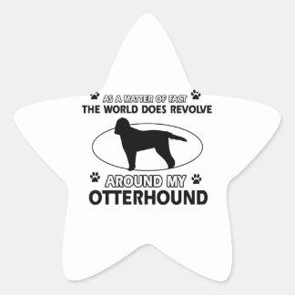 クールなカワウソ猟犬のデザイン 星シール