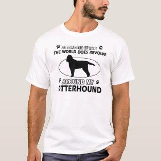 クールなカワウソ猟犬のデザイン Tシャツ