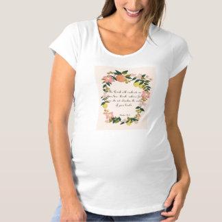 クールなキリスト教の芸術-賛美歌の138:8 マタニティTシャツ