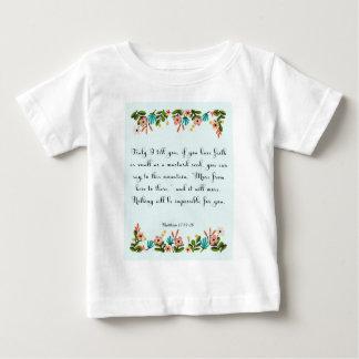 クールなキリスト教の芸術- Matthewの17:19 - 20 ベビーTシャツ
