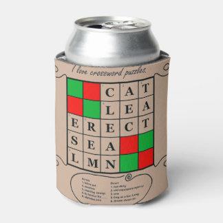 クールなクロスワードパズルのデザインのクーラーボックス 缶クーラー