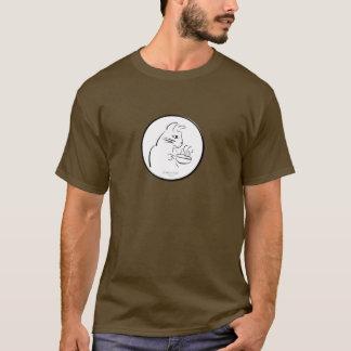 クールなコーヒー猫のワイシャツ Tシャツ