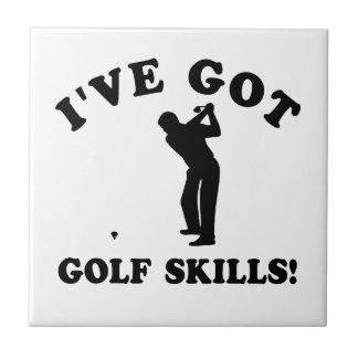 クールなゴルフ技術のデザイン タイル