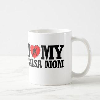 クールなサルサのお母さんのデザイン コーヒーマグカップ