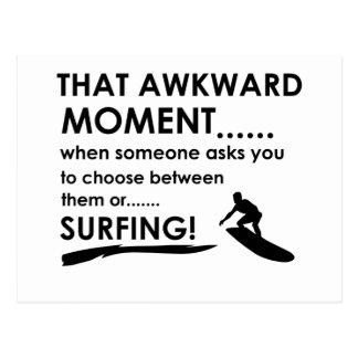 クールなサーフィンのデザイン ポストカード