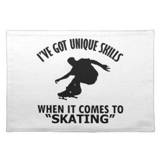 クールなスケートで滑るのデザイン ランチョンマット