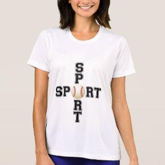 クールなスポーツの野球の十字 Tシャツ