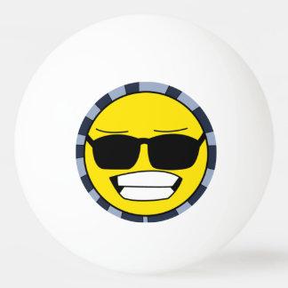 クールなスマイリーフェイス 卓球ボール