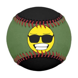 クールなスマイリーフェイス 野球ボール