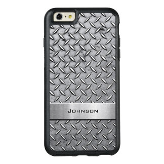 クールなダイヤモンドの切口の銀の金属男らしい一見 オッターボックスiPhone 6/6S PLUSケース