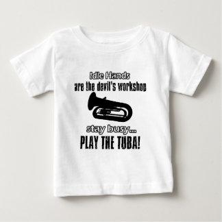 クールなテューバのデザイン ベビーTシャツ