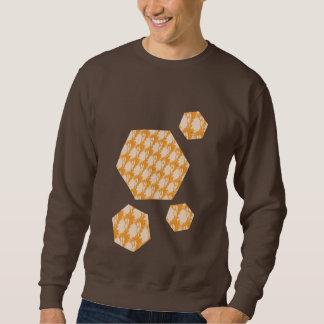 クールなデザインの暗いチョコレートスエットシャツ スウェットシャツ