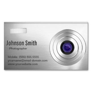 クールなデジタルカメラ-カメラマンの写真撮影 マグネット名刺