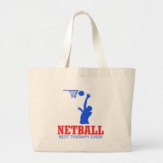 クールなネットボールのデザイン ラージトートバッグ