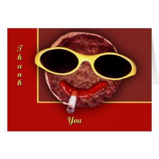 クールなハンバーガー グリーティングカード