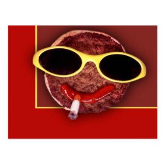 クールなハンバーガー ポストカード