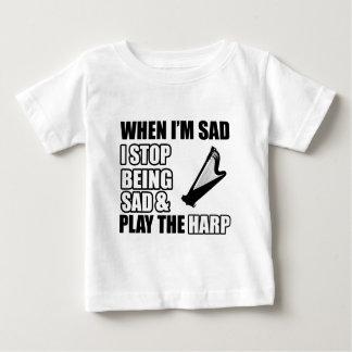 クールなハープのデザイン ベビーTシャツ