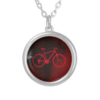 クールなバイクの芸術 シルバープレートネックレス