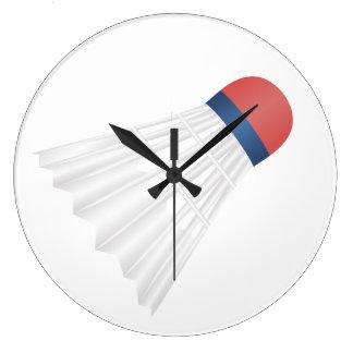 クールなバドミントンの時計 ラージ壁時計