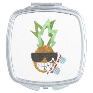 クールなパイナップルコンパクトの鏡