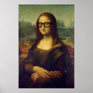 クールなヒップスターガラスの芸術のDa Vinciモナ・リザ ポスター