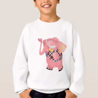 クールなピンクレディー象の服装およびTシャツ スウェットシャツ
