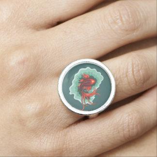 クールなファンタジーのコイの魚 指輪