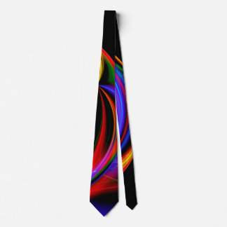 クールなフラクタルのサイケデリックなネオン白熱抽象芸術 ネクタイ