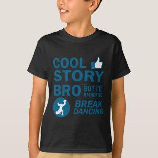 クールなブレイクダンスのデザイン Tシャツ