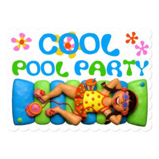 クールなプールを囲んでのパーティ カード