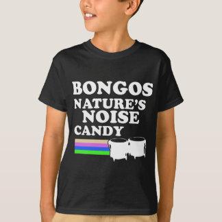 クールなボンゴの楽器のデザイン Tシャツ