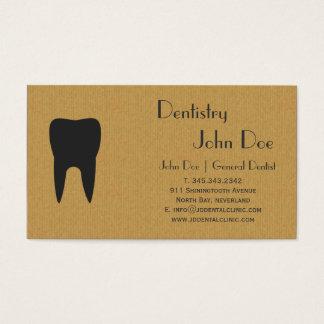 クールなボール紙の歯科ロゴの名刺 名刺