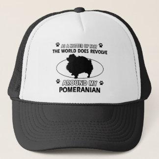 クールなポメラニア犬のデザイン キャップ