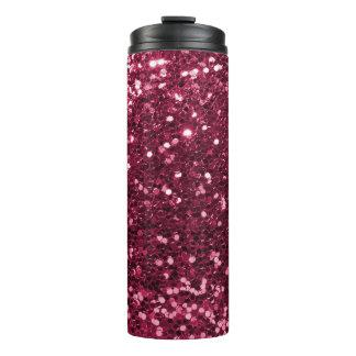 クールなマゼンタのピンクの模造のなグリッターの輝き タンブラー