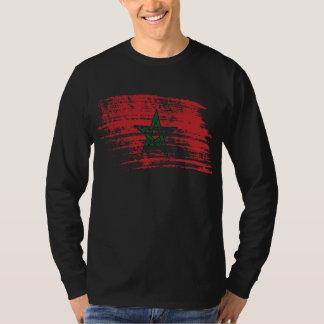 クールなモロッコの旗のデザイン Tシャツ