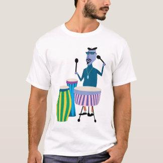 クールなレトロのドラマーのTシャツ Tシャツ