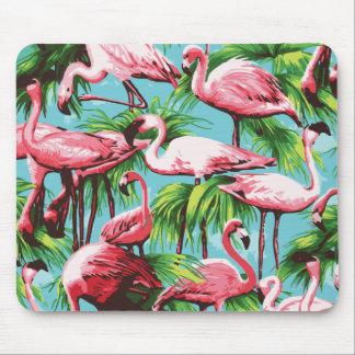 クールなレトロのピンクのフラミンゴのマウスパッド マウスパッド