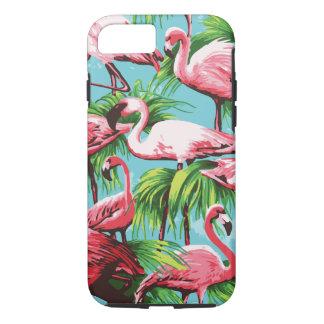 クールなレトロのピンクのフラミンゴ iPhone 8/7ケース