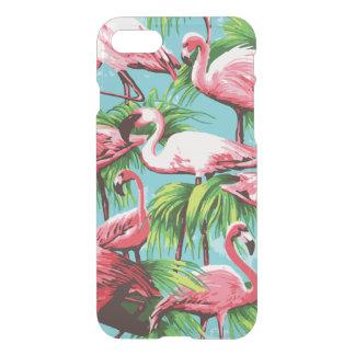 クールなレトロのピンクのフラミンゴ iPhone 8/7 ケース