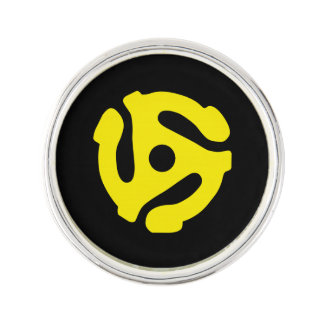 クールなレトロのヴィンテージの黄色45のスペーサDJは印刷します ラペルピン
