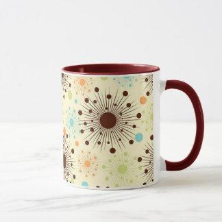 クールなレトロの50年代のコーヒー・マグのデザイン マグカップ