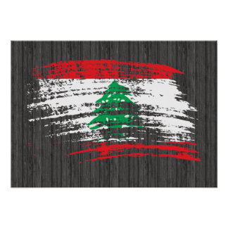 クールなレバノンの旗のデザイン ポスター
