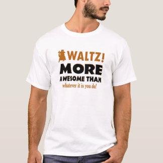 クールなワルツのデザイン Tシャツ