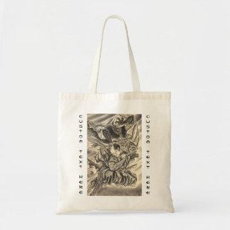 クールなヴィンテージの日本の鬼の武士の戦いの入れ墨 トートバッグ